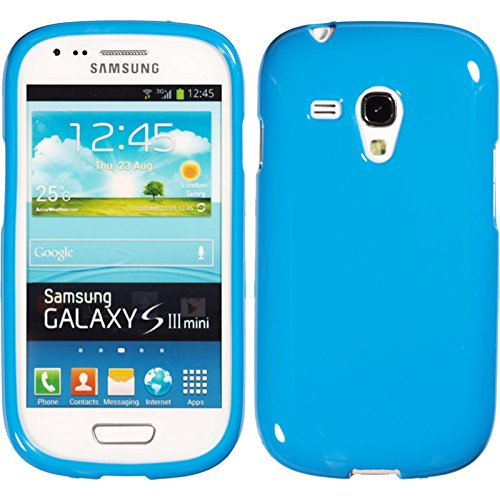 PhoneNatic Silicone Case Compatible with Samsung Galaxy S3 Mini - Candy Light Blue Cover Cover