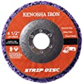 "5 Pack- 4 1/2""(115mm) x 7/8"" KENOSHA IRON Extended Life Strip & Clean Discs-Cleans and REMOVES Paint, Rust, Corrosion and Mill Scale from Hard Surfaces"