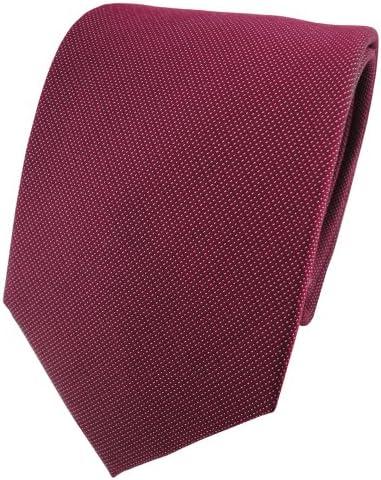 ohne Markenname Corbata de seda de raso - rojo borgoña burdeos ...