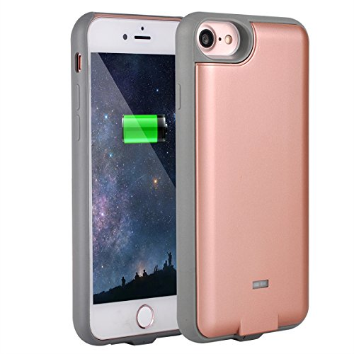 NuCharger QI3000 3000mAh Qi Wireless Charging Battery Case for iPhone 7 (6 & 6s Compatible) Abs Edge, Slim Design, with Bonus Tempered Glass, NUNET