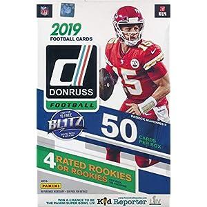 2019 Donruss NFL Football HUGE 50 CARD Factory Sealed Hanger Box with (4) ROOKIES, (4) PARALLELS & (10) INSERTS! Look for Rookies & Autos of Kyler Murray, Daniel Jones, Dwayne Hoskins & More! WOWZZER!