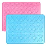 2 Half Sheet Non Stick Silicone Macaron Baking Mats Muffin Pan for Cookies Bread Macaron and Pastry BPA Free