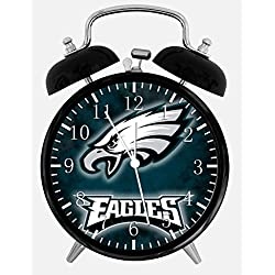 Eagles Alarm Desk Clock 3.75 Home or Office Decor E419 Nice For Gift