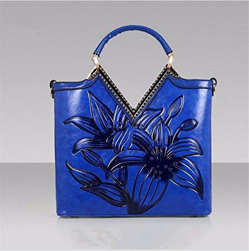 Single Schulter diagonales Kreuz Handtasche klassische National Wind trend single Schulter schräg Handtasche weiblichen Tasche Blau