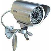 Outdoor CCTV Surveillance Camera 3.6mm wide angle Bullet Security Camera color CMOS 1000TVL with IR-CUT Day Night 48 Infrared LEDs with Bonus Power Supply