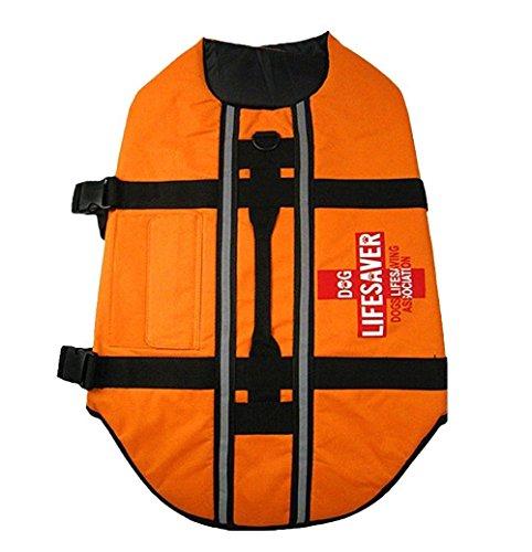 Pet Dog Lifejacket Swimming Safety Vest Reflective Jacket - Strong Buoyancy Swimsuit Lightweight Lifejacket (Medium)