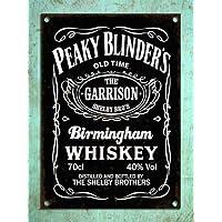 Cheyan Metal Placas Vintage Estilo Peaky Blinders Whiskey