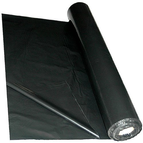 Black/Grey Polythene Sheeting Mulch Mat 4m x 25m 1000 Gauge by True Products True Products ® B6021C