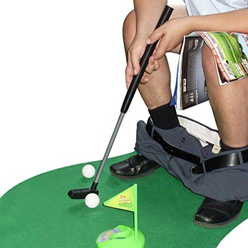 Toiletten Golf Set Golfset für das Badezimmer - Golfsport auf dem WC und Klo