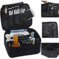 Lmeison Premium Waterproof Portable Velcro Travel makeup bag / Makeup Brush...