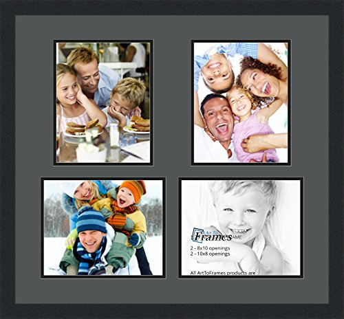 ArtToFrames Collage Photo Frame Double Mat with 4 - 8x10 ...
