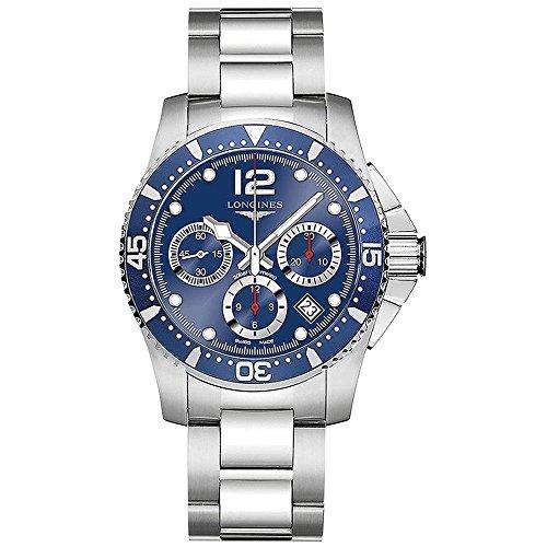 - Longines HydroConquest - L3.744.4.96.6 - Divers Automatic Chronograph Blue Mens