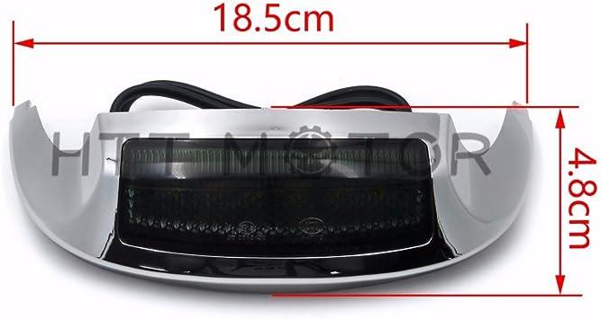 Harley Davidson FLHT  Chrome//Smoke White LED Front Fender Tip Light 14-17