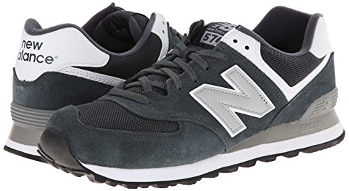 888546369214 - New Balance Men's ML574 Picnic Pack Collection Classic Running Shoe, Dark Grey/Silver, 7 D US carousel main 5
