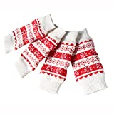 Coohole Christmas Pet Dog Leg Socks Cute Warm Socks Non-slip Pet Dog Leg Warmers (M, Red)