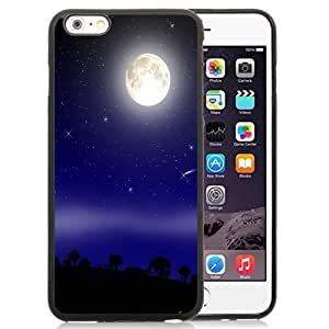 New Personalized Custom Designed For iPhone 6 Plus 5.5 Inch Phone Case For Bright Full Moon Phone Case Cover