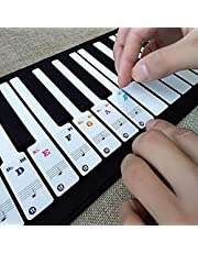 Key Keyboards Transparent & Removable Piano Stickers