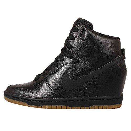 (Nike Dunk Sky HI Essential Womens Fashion-Sneakers 644877-014_8.5 - Black/Gum Brown/Dark Grey)