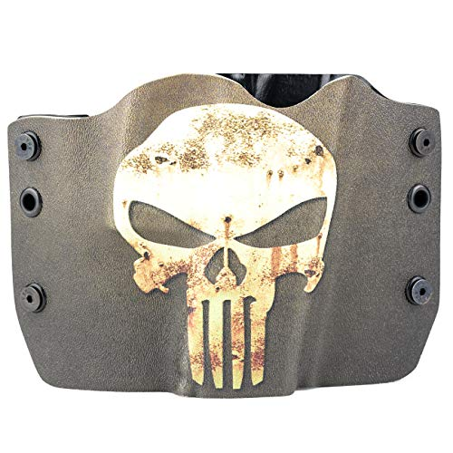 Punisher Green/Tan OWB Holster (Right-Hand, 1911 w/o Rail)