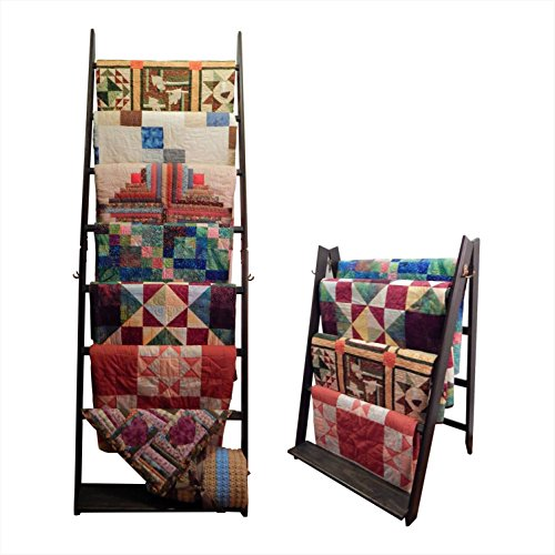 The LadderRack- It's 2 Quilt Racks in 1! (7 Rung/24'' Model/Weathered Black) by Built by Briick Quilting
