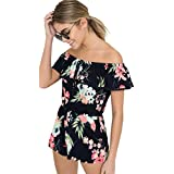 Ardene - Women's - Rompers & Jumpsuits - Off Shoulder Romper Small -(8A-AP01608)