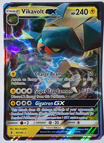 Pokemon, Sun & Moon Guardian rising, Vikavolt GX 45/145, Ultra Rare, Mint, New, Full Art