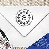 Gothic Vintage Return Address Stamp, Gothic Monogram Stamp | MS-R9