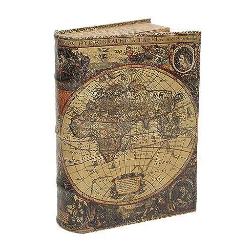 Hohles Buch mit Geheimfach Buchversteck Atlas Antik-Stil 21cm ...
