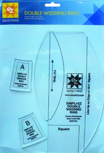 Simpli-EZ 8829419A Double Wedding Ring Quilting Tool (Double Ring Wedding Template)