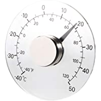GreenCC Medidor de Temperatura y Humedad para Interiores y Exteriores, Redondo higrómetro, termómetro analógico Monitor…