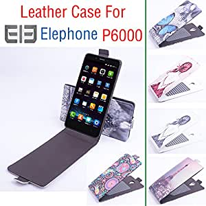 Painted Fashion High Quality New Original Elephone P6000 Leather Case Flip Cover for Elephone P 6000 Case Phone Cover In Stock --- Color:Jellyfish
