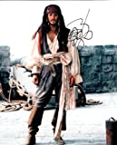 Johnny Depp Pirates of the Caribbean Signed Autographed 8 X 10 Reprint Photo - Mint Condition