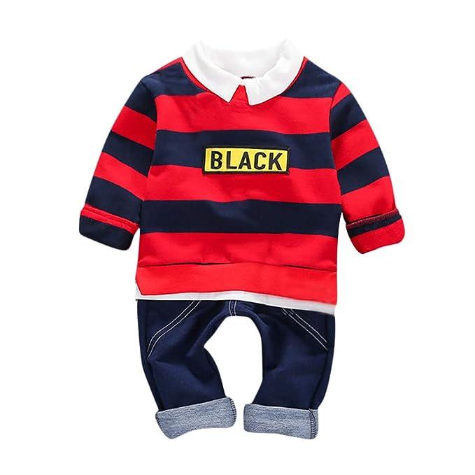 Zolimx Niños Recién Nacidos Baby Boy Rayas Camiseta Jersey Tops ...