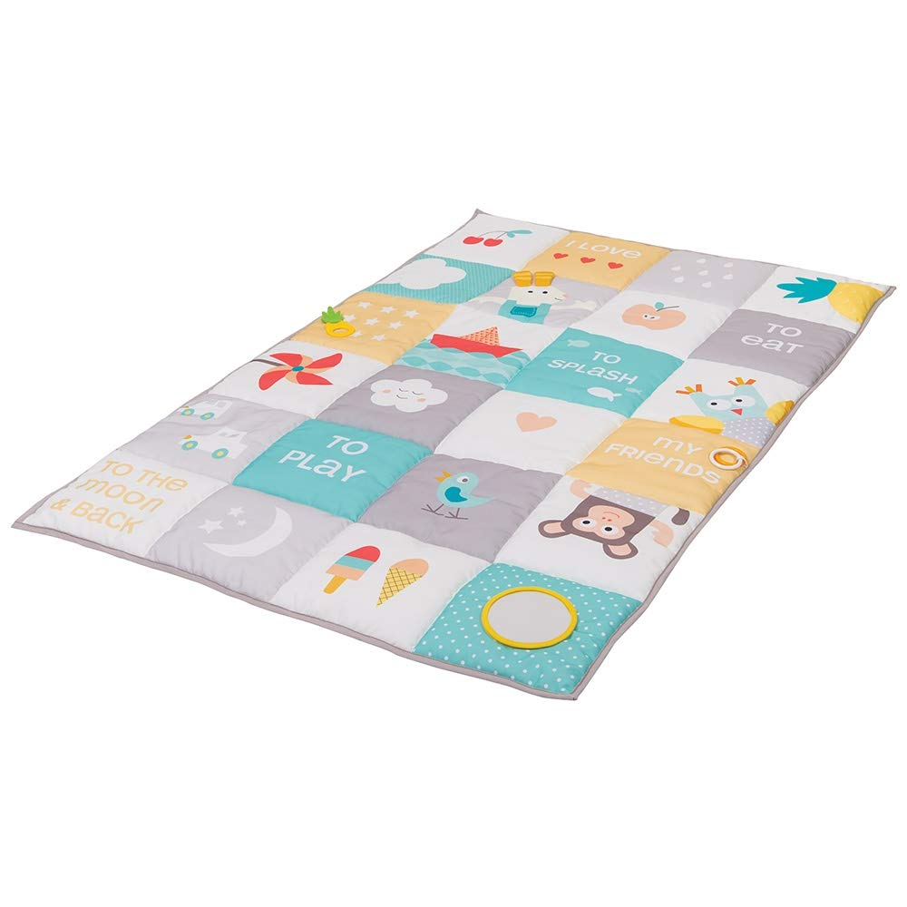 Taf Toys I Love Big Mat Baby Activity Mat, Baby s Development and Easier Parenting, Soft Colored Thickly Padded for Comfort, Ideal for Twins, Best for Fun and Tummy Time Activities, Double Size