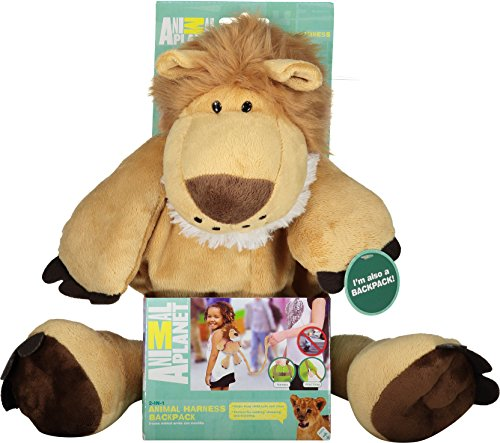 74d86bbeb125 Animal Planet 2 in 1 Harness Backpack, Lion, Brown, Child Leash, Baby  Walking Safety Harness, Kid Backpack with Tether, Toddler Travel, Wrist  Leash, ...