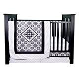 Trend Lab Versailles Black and White 3 Piece Crib Bedding Set