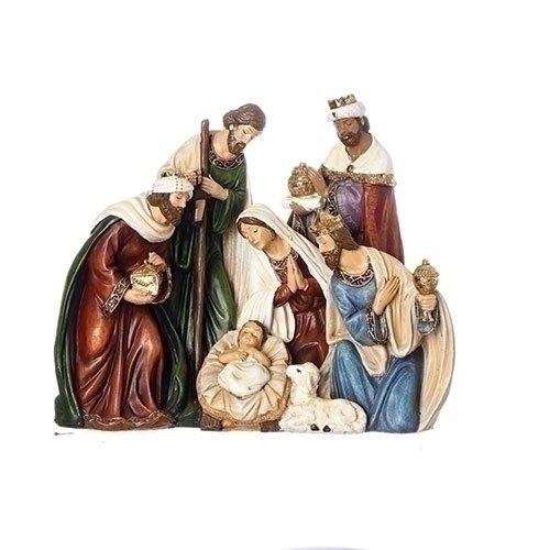ROMAN 8''HOLY FAMILY,3 KINGS,ANIMALS FIG 1 PIECE FIGURE