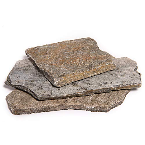 Landscape Patio Flagstone | 2000 Pounds | Natural Rock Pathway Stepping Stone Slabs for Gardens, Terrariums, Landscape Design, Driveway Pavers and Walkway Steppers (Storm Mountain)