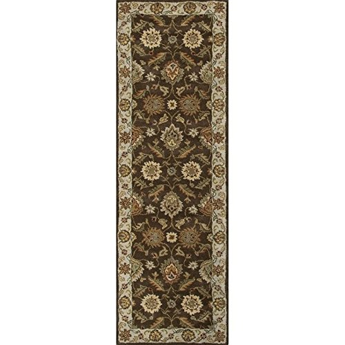 Jaipur Living Mythos 3' x 12' Runner Hand Tufted Wool Rug in Brown