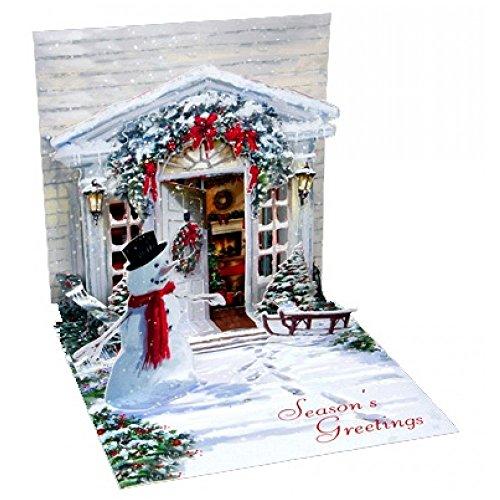 (3D Greeting Card - HOLIDAY DOOR - Christmas)