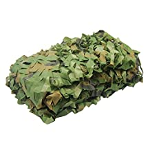 NINAT Woodland Camo Netting Camouflage Net For Camping Military Hunting Shooting Sunscreen Nets 3.25x6.5ft,6.5x10ft,5x13ft,10x10ft,6.5x16.4ft,6.5x20ft,6.5x26ft,13x16.5ft,13x20t,20x20ft,20x23ft