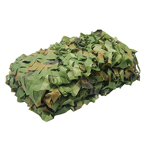 Ghillie Suit For Sale Cheap (NINAT Camo Netting 6.5x10ft Woodland Camouflage Net For Camping Military Hunting Shooting Sunscreen Nets)
