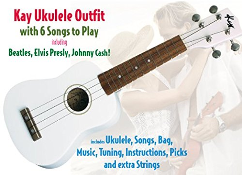 Kay U12PW Ukulele, White for sale  Delivered anywhere in Canada