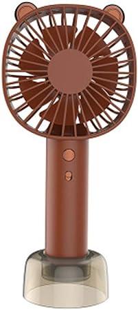 BBQBQ Ventiladores USB Mini Ventilador de Mano portátil de Escritorio USB Que Carga el pequeño Ventilador marrón 9 * 6 * 20.5cm: Amazon.es: Hogar