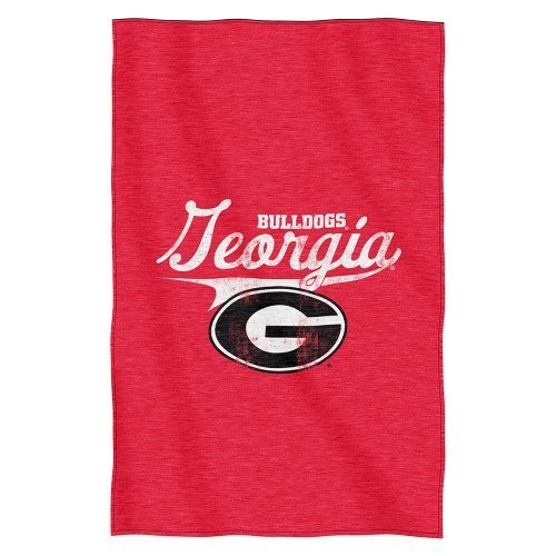 NCAA Georgia Bulldogs Script Sweatshirt Throw, 54-inches by 84-inches - by The Northwest Company by Northwest by Northwest
