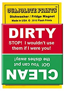 Clean Dirty Dishwasher Magnet - Stop and Go Red and Green Colors -Colorful Style