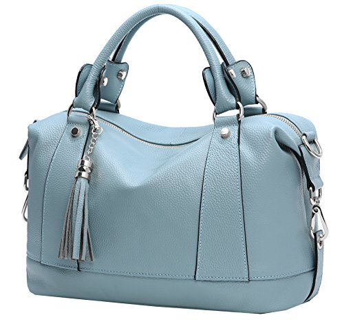 Heshe Leather Shoulder Bag Womens Tote Top Handle Handbags Cross Body Bags...