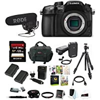 Panasonic LUMIX 16MP Mirrorless Digital Camera (Body Only) with RodeLink FM Wireless Filmmaker System & 128GB Memory Card Accessory Bundle