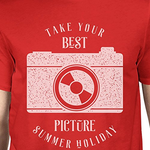 Manches 365 Courtes Printing Your Red Homme shirt Summer Picture Unique T Taille Best Holiday qrtgCwrI