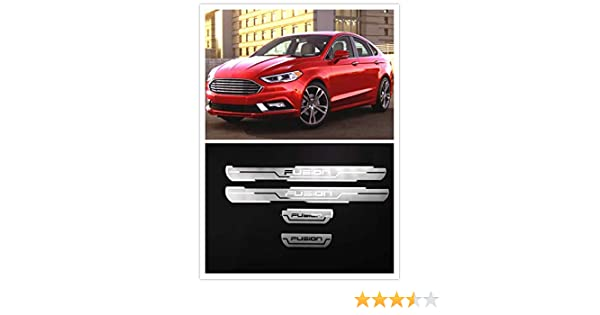 For Ford Fusion Accessories 2014-2019 Steel Door Sill Scuff Plate Door Sill Protector Cover Trim 4pcs